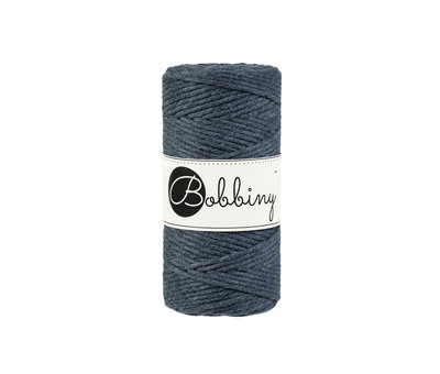 Bobbiny Bobbiny Macrame cord 3mm Charcoal