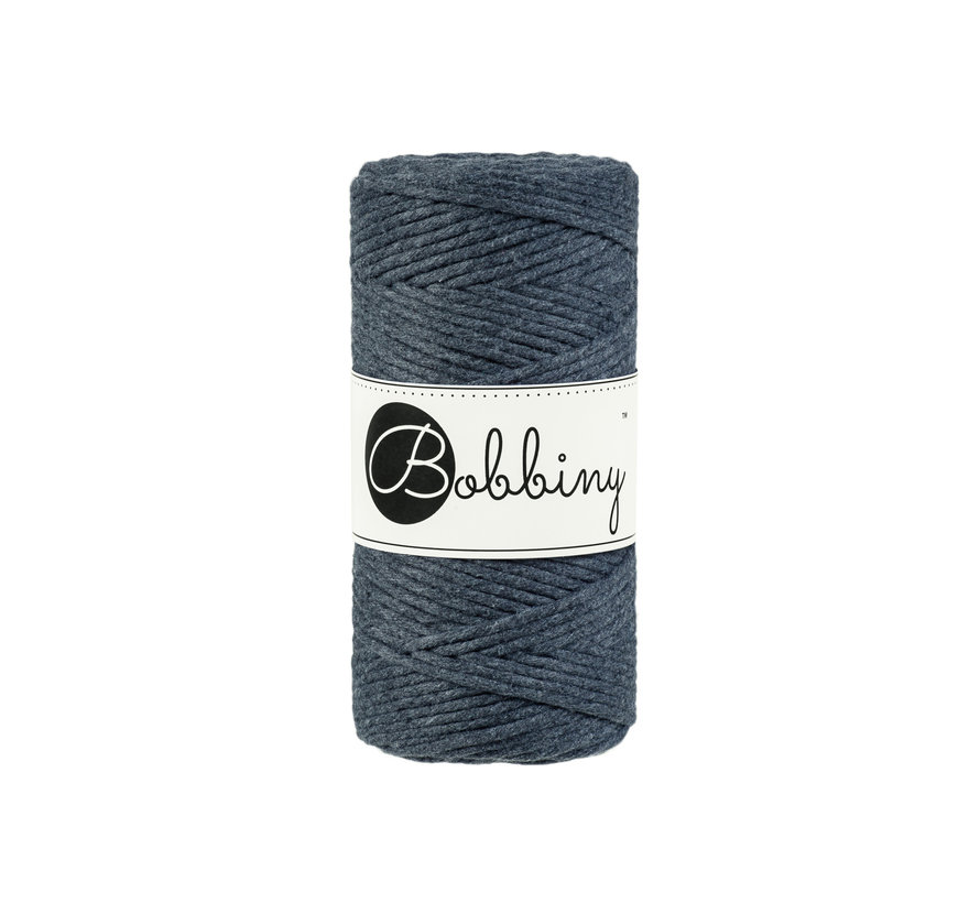 Bobbiny Macrame cord 3mm Charcoal