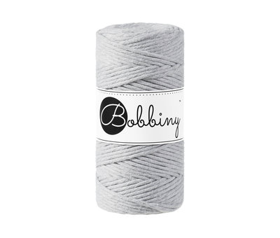 Bobbiny Bobbiny Macrame cord 3mm Light grey