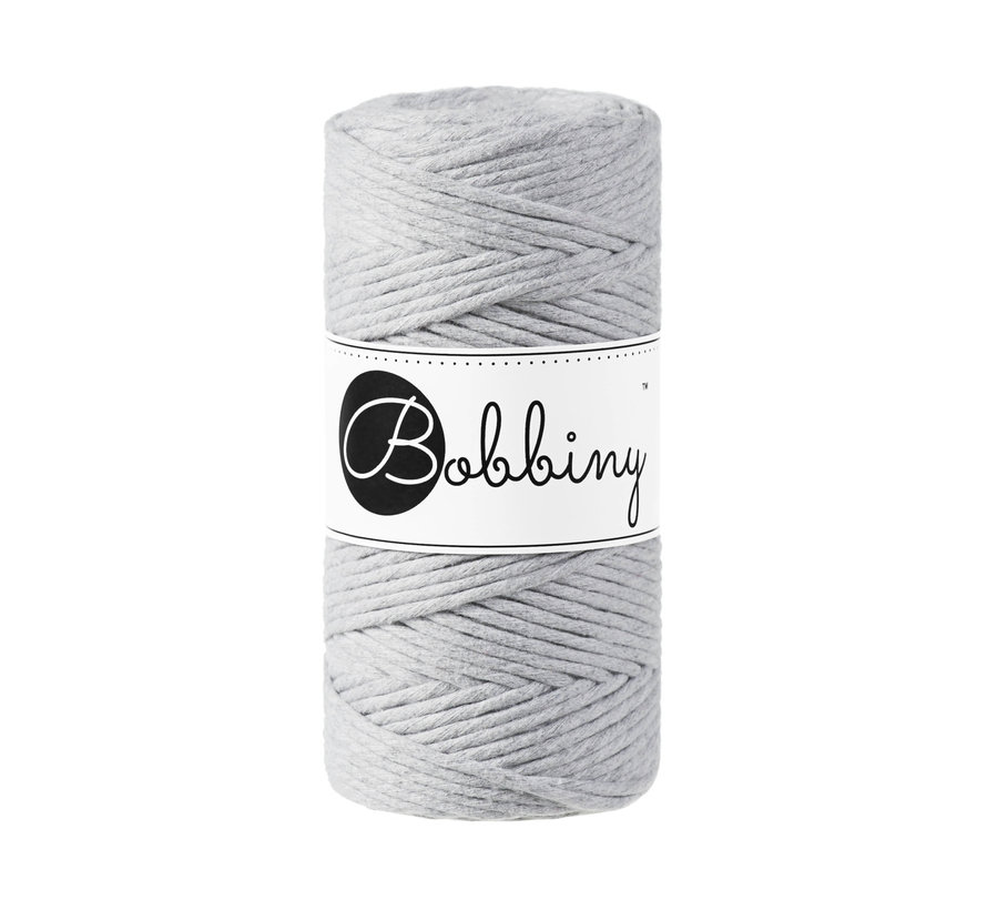 Bobbiny Macrame cord 3mm Light grey