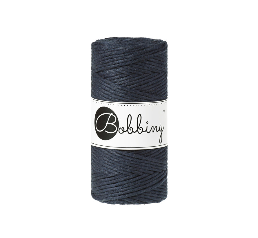 Bobbiny Macrame cord 3mm Navy blue