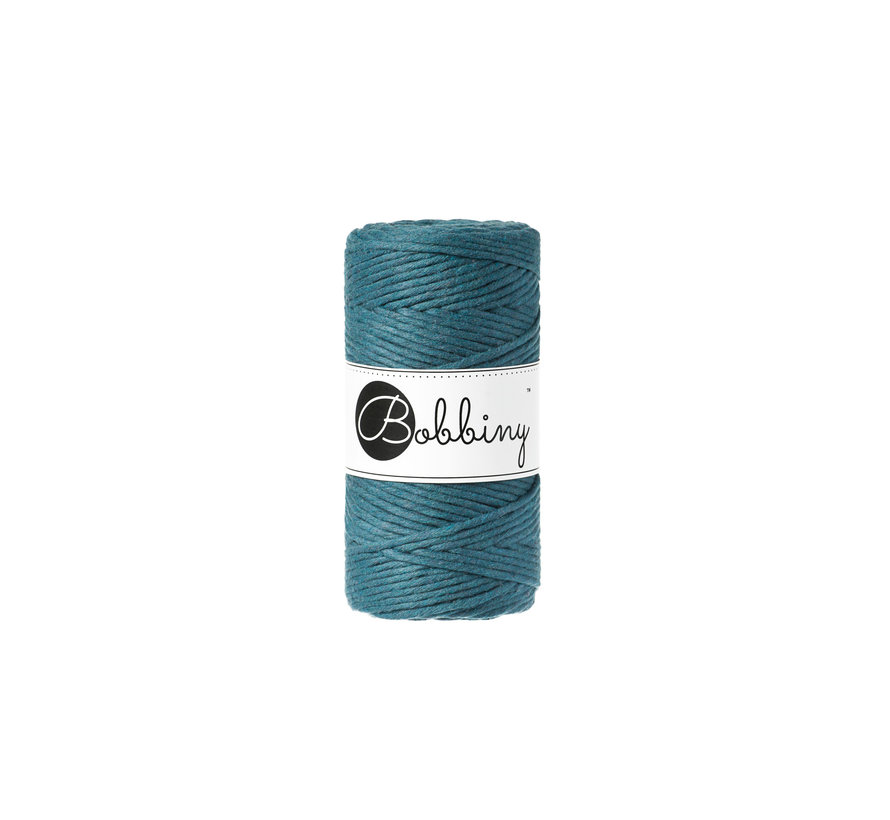 Bobbiny Macrame cord 3mm Peacock blue