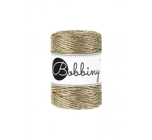 Bobbiny Bobbiny Macrame cord 3mm Metallic gold Limited Edition