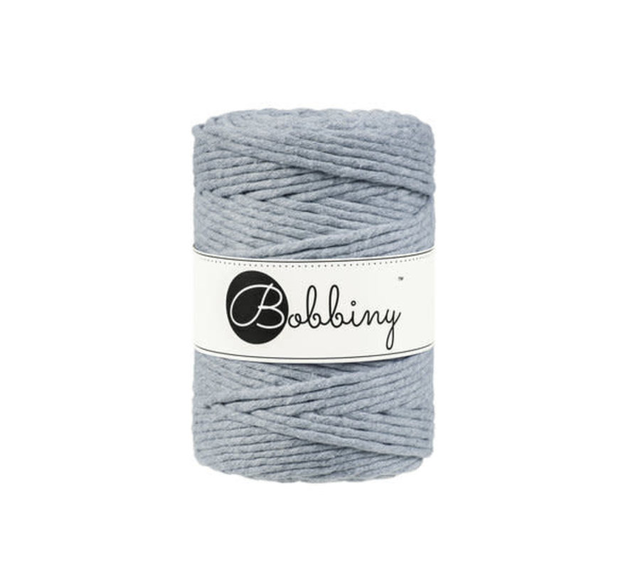 Bobbiny Macramé cord 5mm Silver