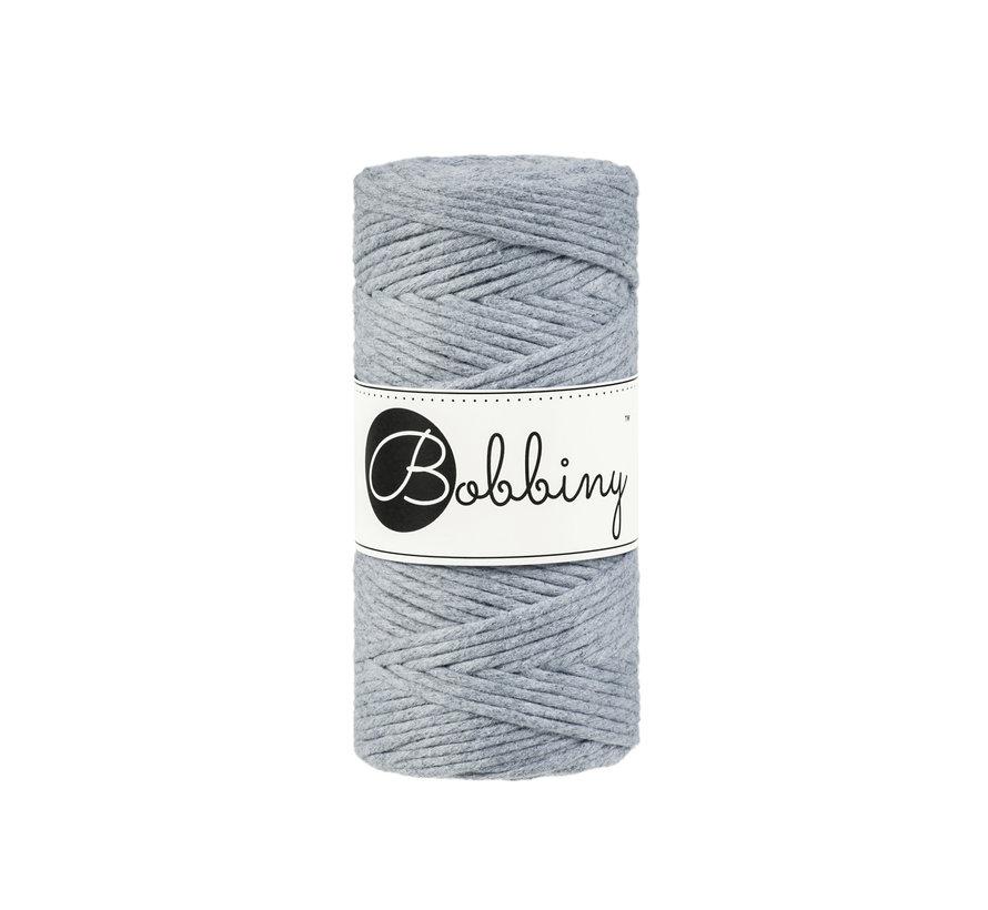 Bobbiny Macramé cord 3mm Silver