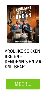 Vrolijke sokken breien - Dendennis en Mr. Knitbear