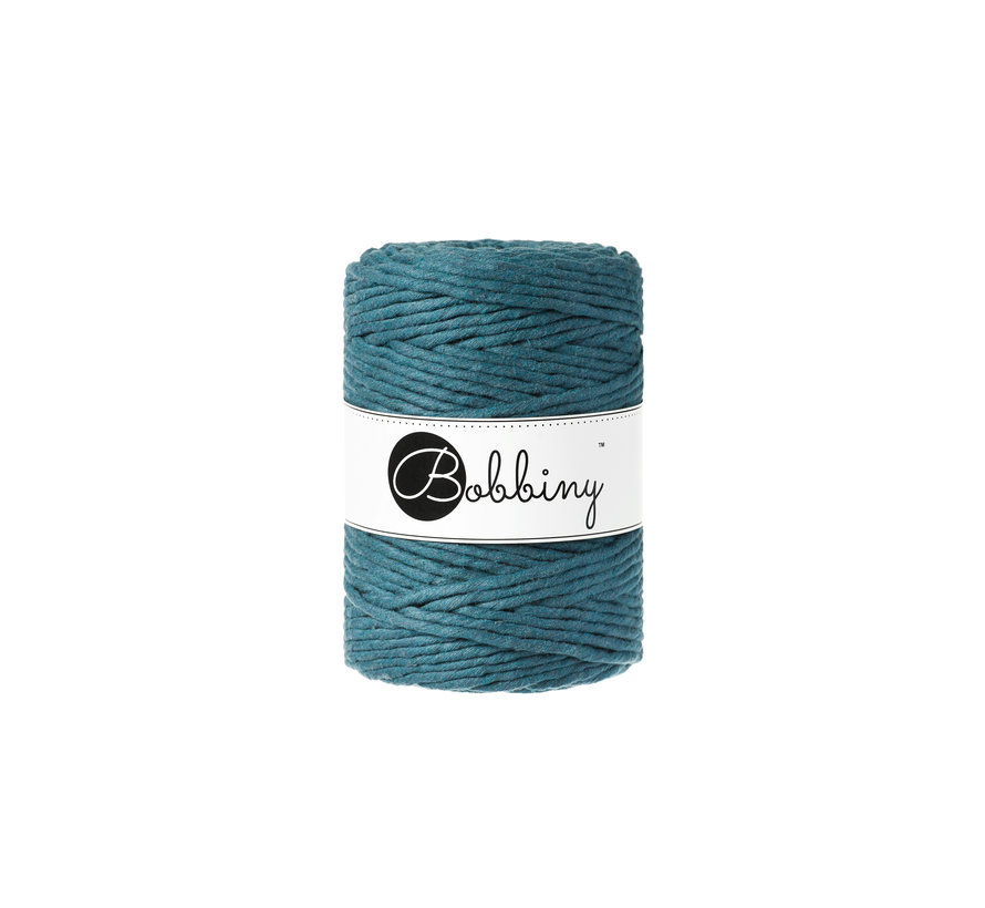 Bobbiny Macrame cord 5mm Peacock blue