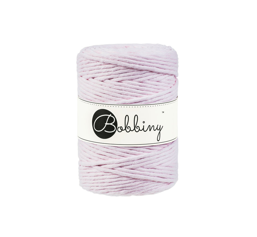 Bobbiny Macrame cord 5mm Baby pink