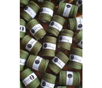 Bobbiny Bobbiny Macrame cord 5mm Avocado golden