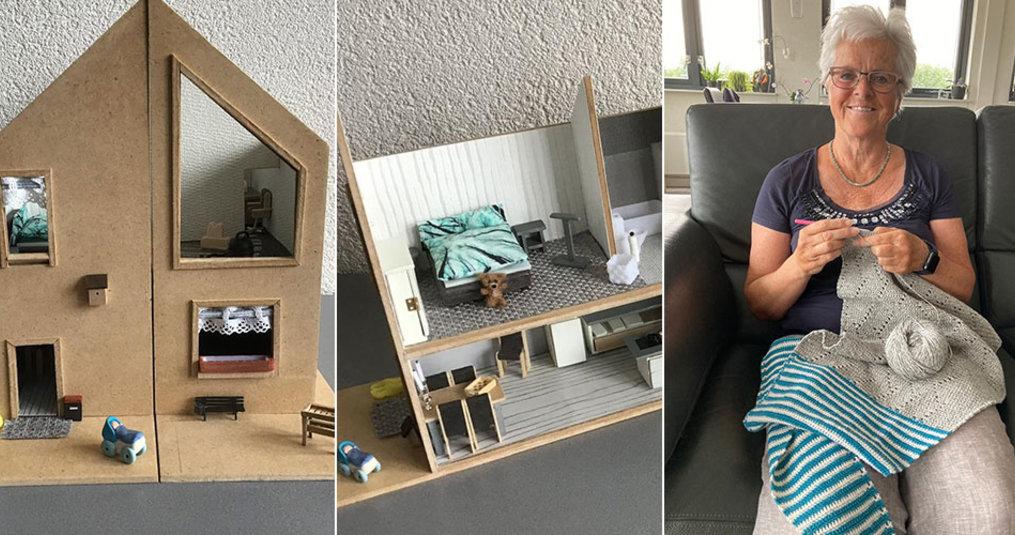 'Ik bouw mijn eigen huis na, als poppenhuis'