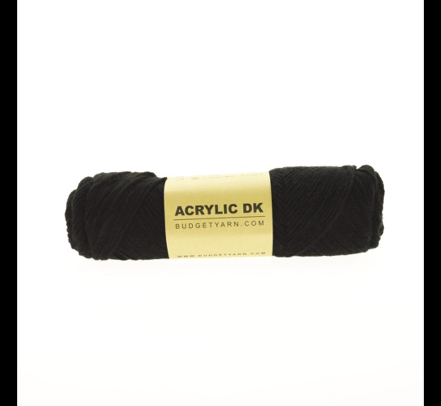 Budget Yarn Acrylic DK 100 Black