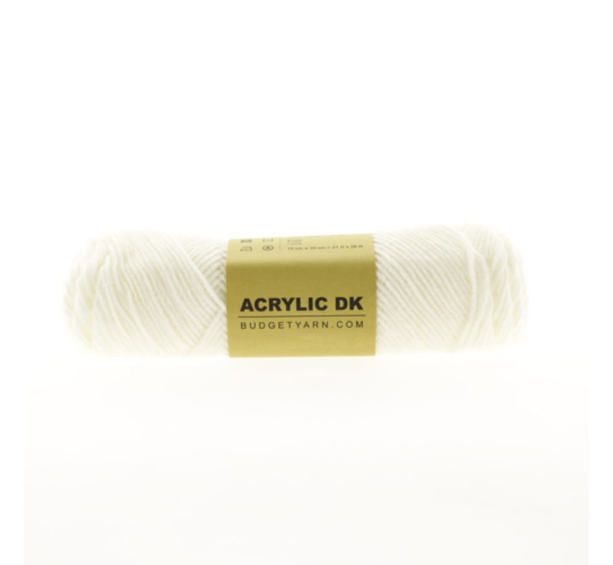 Budget Yarn Acrylic DK 001 White