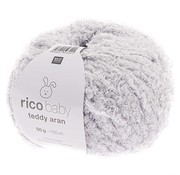 Rico Design Rico Design Baby Teddy Aran 011 Light Grey