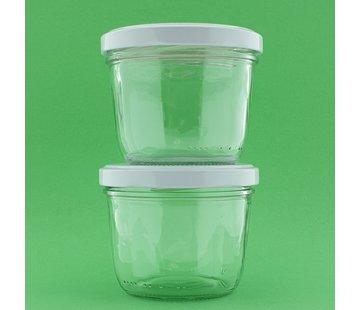 Huismerk Potje glas tbv bizzybee potjes haken 1stuk