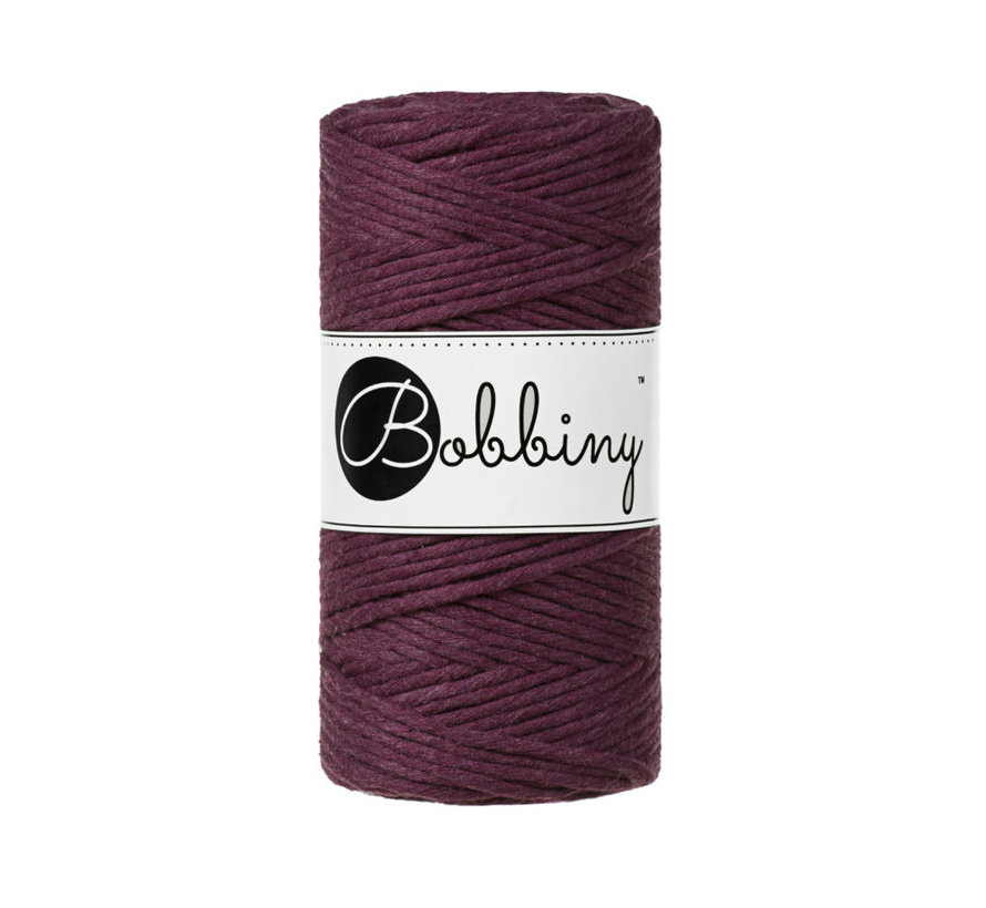 Bobbiny Macramé cord 3mm Blackberry