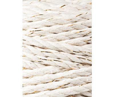 Bobbiny Bobbiny Macramé Triple Twist 5mm Natural golden