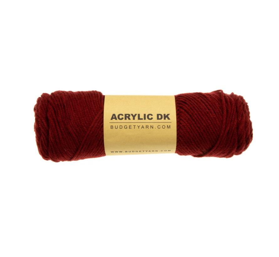 Budget Yarn Acrylic DK 029 Burgundy