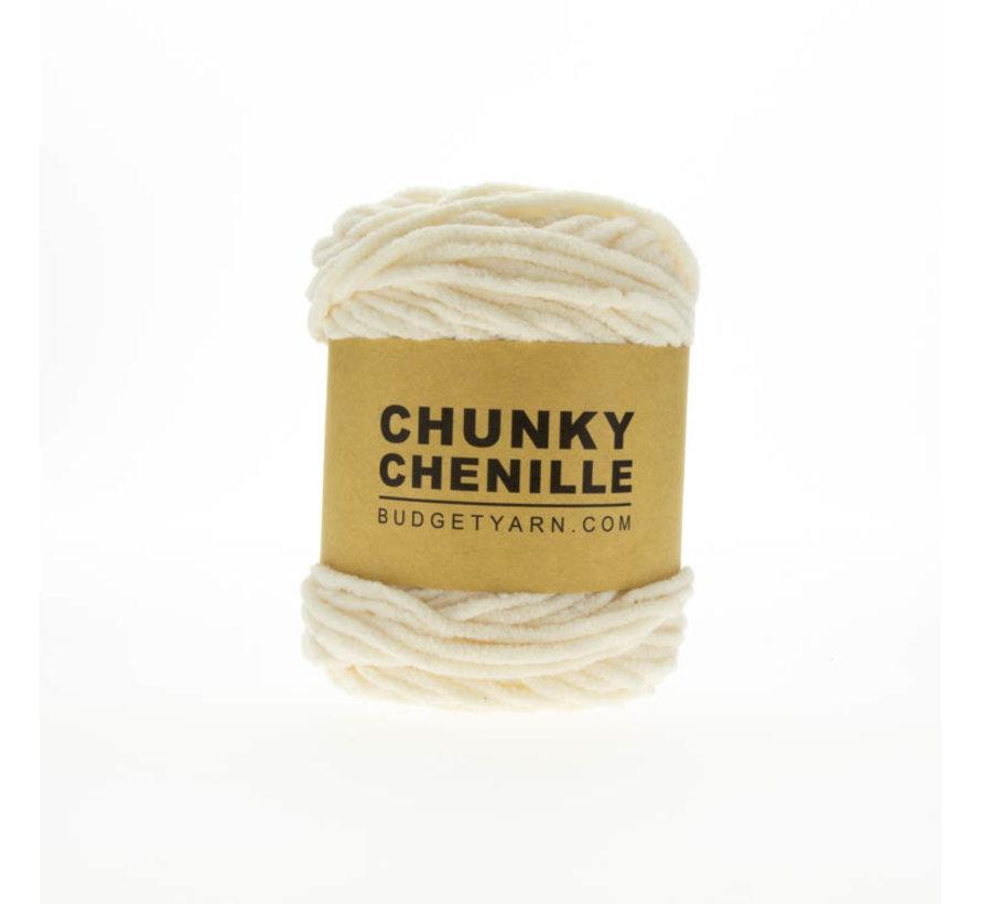 Budget Yarn Chunky Chenille 002 Kleur: Cream
