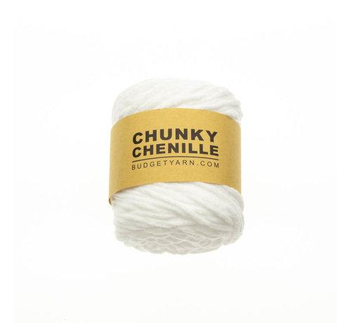 Budget Yarn Budget Yarn Chunky Chenille 001 Kleur: White