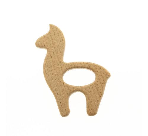 Huismerk Houten Bijtring Alpaca