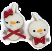 Hardicraft Hardicraft Vilt hangers Sneeuwpopjes