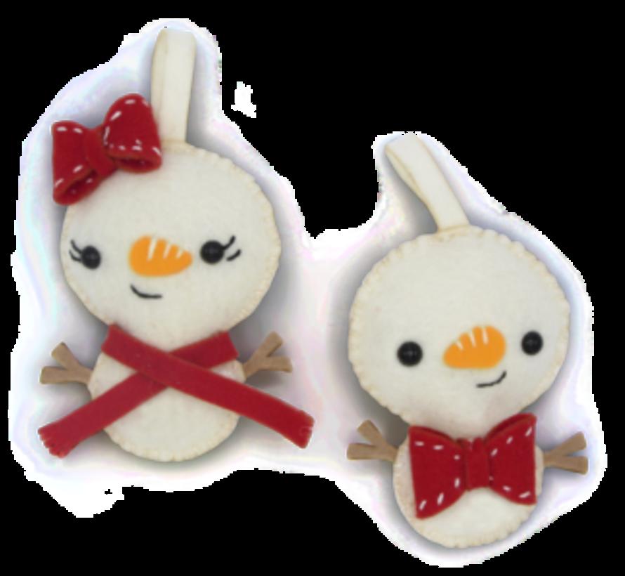 Hardicraft Vilt hangers Sneeuwpopjes