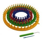 Huismerk Groovy Knitter Breiring  Set Rond 14, 19, 24, 29cm