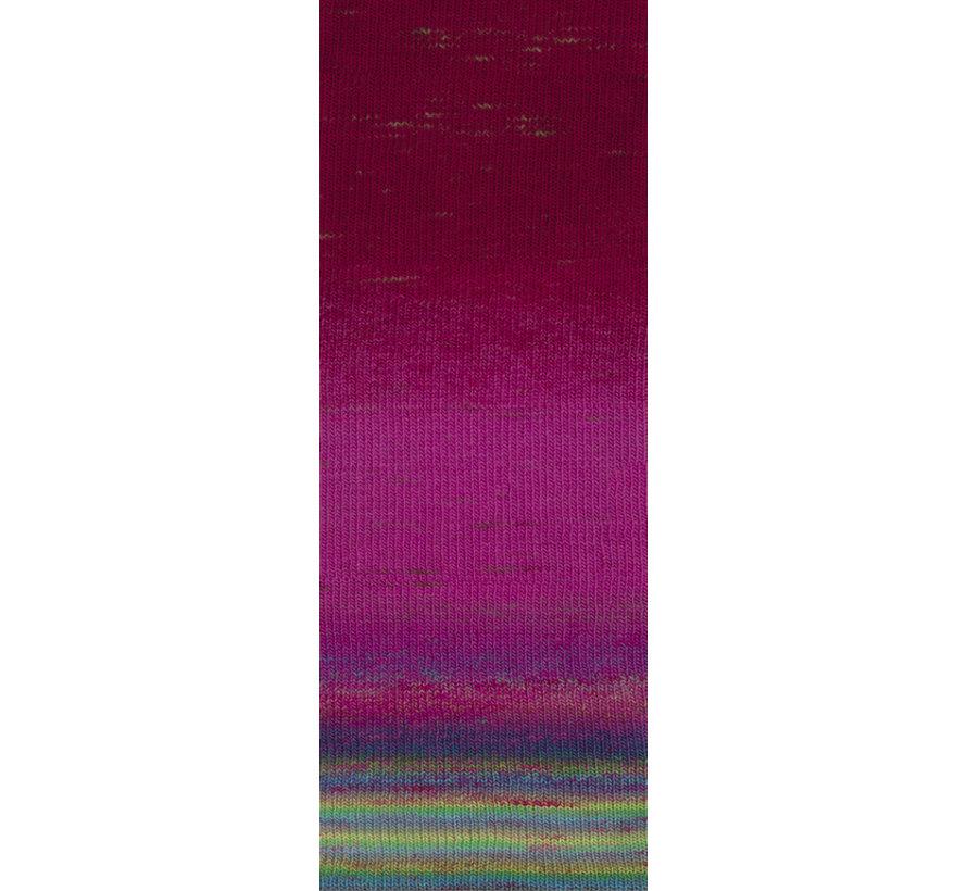 Gomitolo Finito 552 Kleur: Roze-Wijnrood-Blauw-GroenTurquoise