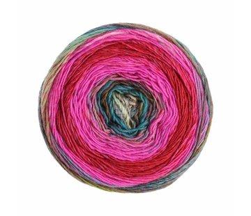 Lana Grossa Gomitolo Finito 552 Kleur: Roze-Wijnrood-Blauw-GroenTurquoise