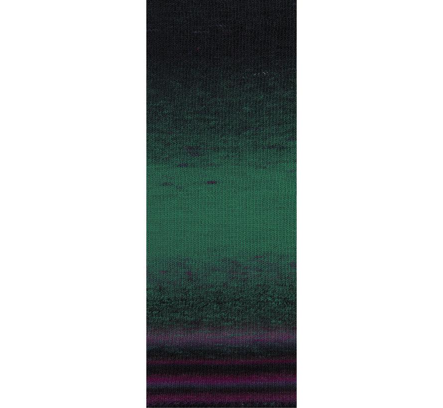Gomitolo Finito 556 Kleur: Petrol-Nachtblauw-Aubergine-Blauwviolet