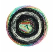 Lana Grossa Gomitolo Finito 555 Kleur: Zwart-Antraciet-Naturel-Blauw-Groen-Geel-Rood