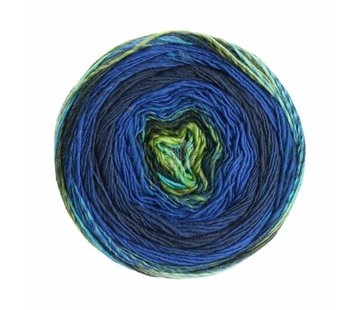 Lana Grossa Gomitolo Finito 557 Kleur: Royal-Donkerblauw-Lichtgroen-Antraciet-Marine