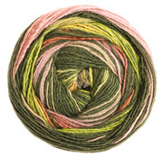 Lana Grossa Gomitolo Bene 752 Kleur: Grijsbruin-Lila-Bordeaux-Oker-Geel