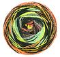 Gomitolo Bene 756 Kleur: Turquoise-Zwart-Grijs-Blauwebes-Oranje-Honinggeel