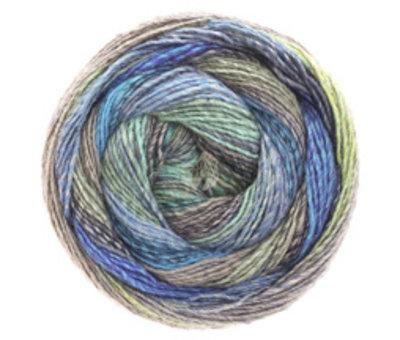 Lana Grossa Gomitolo Molto 604  Kleur: Blauw-Groen-Grijs-Turquoise