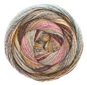Lana Grossa Gomitolo Molto 610  Kleur: Oranje-Lichtgrijs-Donkergrijs-Blauwviolet-Roze-Jeans