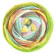Lana Grossa Gomitolo Molto 613  Kleur: Mint-Witgroen-Oker-Vanille-Zwartbruin-Hazelnoot