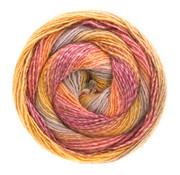 Lana Grossa Gomitolo Versione 412  Kleur: Zalm-Lila-Maisgeel-Cyclaam
