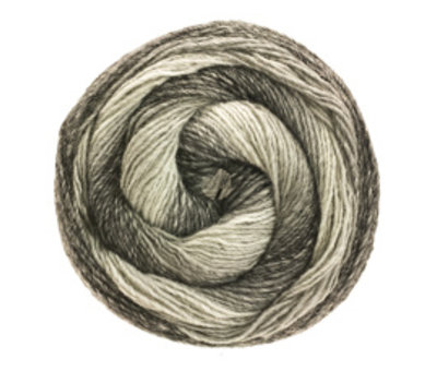 Lana Grossa Gomitolo Versione 413  Kleur: Zilver-Lichtgrijs-middelgrijs-Donkergrijs