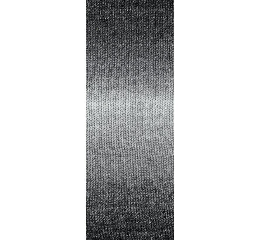 Gomitolo Versione 413  Kleur: Zilver-Lichtgrijs-middelgrijs-Donkergrijs