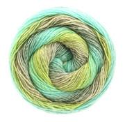 Lana Grossa Gomitolo Versione 414  Kleur: Petrol-Grijs-Kiwi-Smaragd-Turquoise