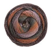 Lana Grossa Gomitolo Versione 420  Kleur: Nougat-Blauwviolet-Zwart-Rookblauw