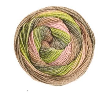 Lana Grossa Gomitolo Versione 421  Kleur: Kaki-Lichtgroen-Donkergroen-Zwartgroen-Beige