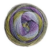 Lana Grossa Gomitolo Versione 422  Kleur: Blauwviolet-Olijf-Grijs-Groen