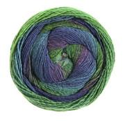 Lana Grossa Gomitolo Versione 423  Kleur: Donkergroen-Bladgroen-Zeeblauw-Inktblauw-Violet