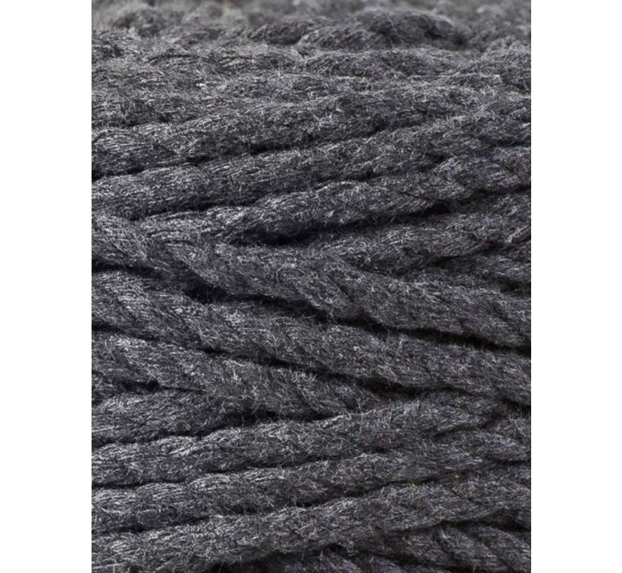Bobbiny Macramé Triple Twist 5mm Charcoal