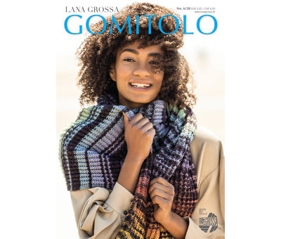 Lana Grossa Gomitolo Versione 407 Kleur: Oker-Roodbruin-Mosterd-Turquoise-Petrol