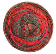 Lana Grossa Gomitolo Bene 758 Kleur: Donkergrijs-Bordeaux-Rood-Cyclaam