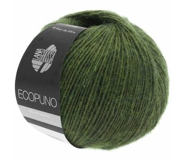 Lana Grossa Ecopuno 001 Kleur: Loden