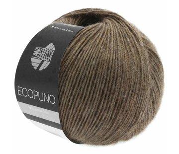 Lana Grossa Ecopuno  017 Kleur: Donkerbruin